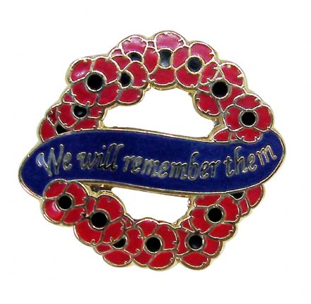Poppies and Wreath Brooch Lapel Badge